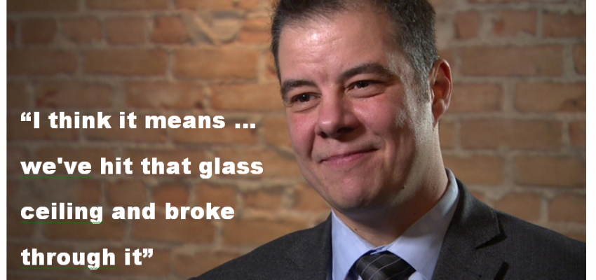 """""""I think it means we've hit that glass ceiling and broke through it"""""""