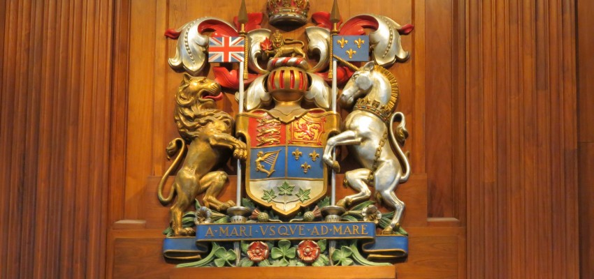 Supreme Court of Canada coat of arms with lion and unicorn